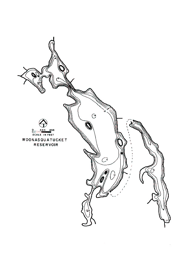 Woonasquatucket Reservoir Map