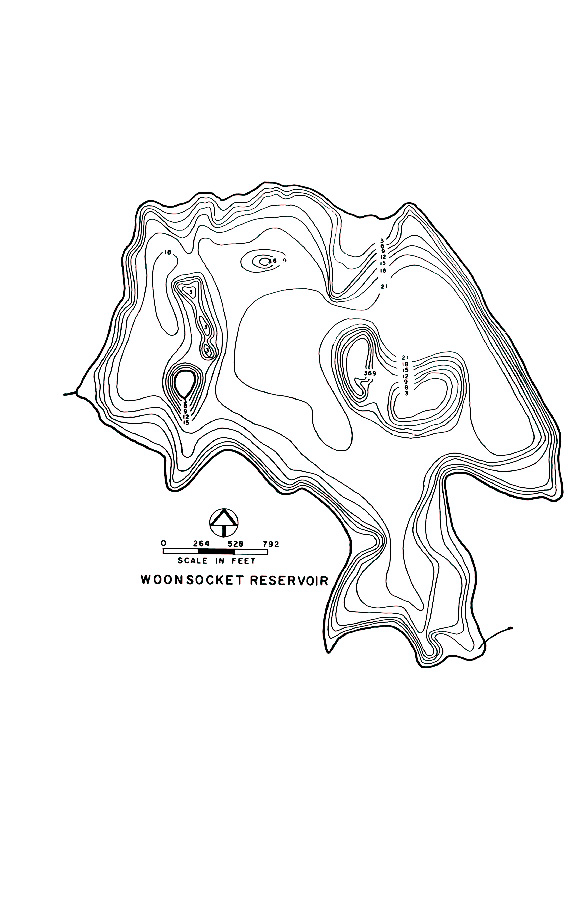 Woonsocket Reservoir Map