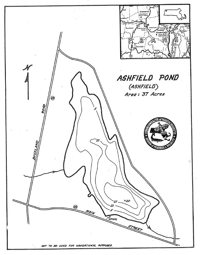 Ashfield Pond Map
