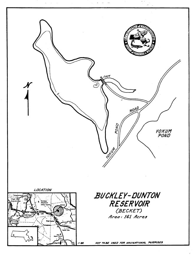 Buckley Dunton Reservoir Map