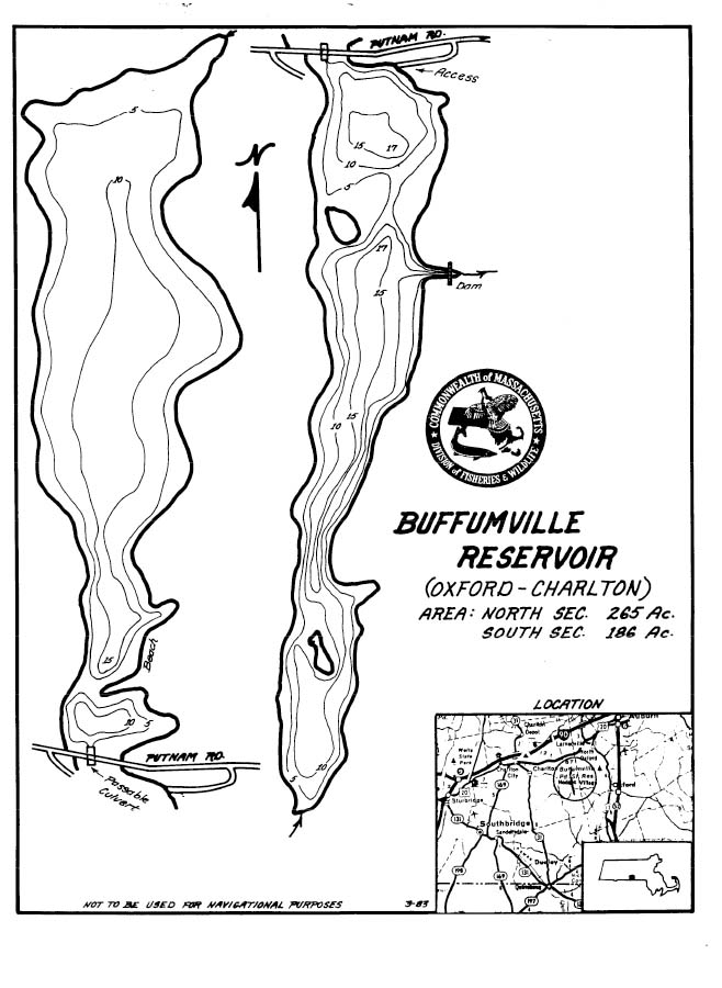 Buffumville Reservoir Map