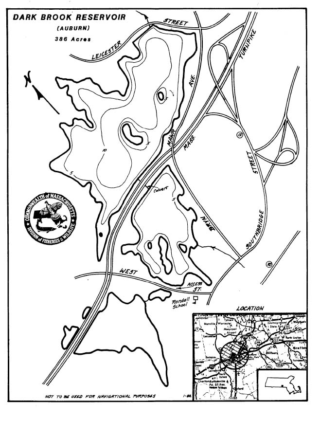 Dark Brook Reservoir Map