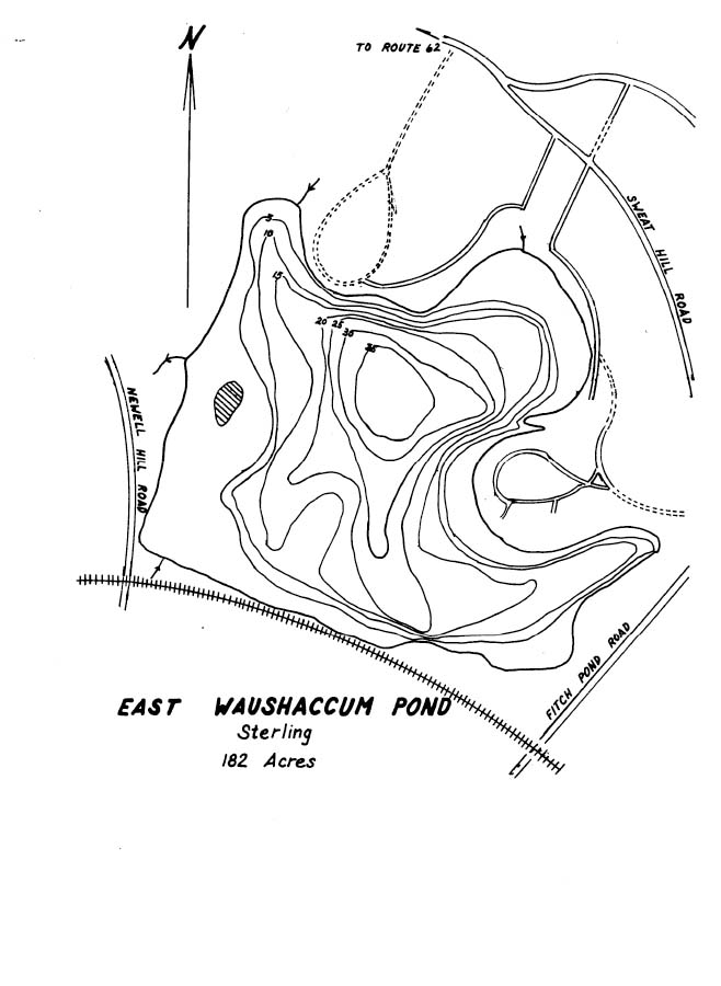East Waushaccum Pond Map