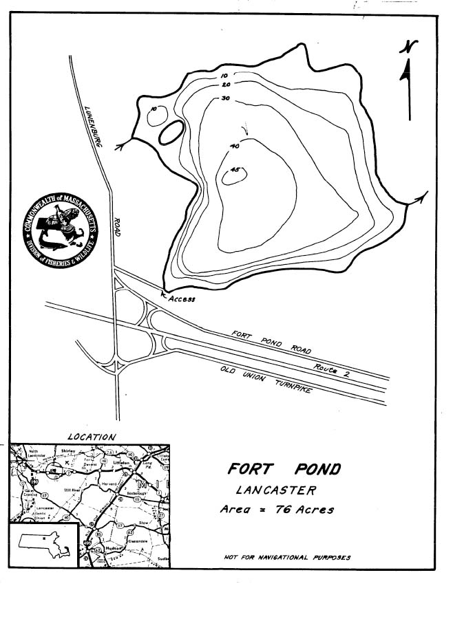 Fort Pond Map