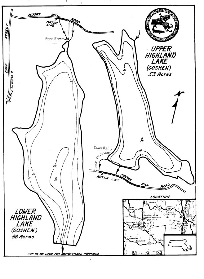 Highland Lakes Map