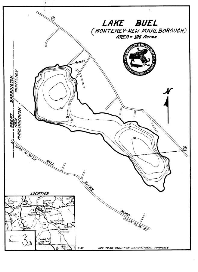 Lake Buel Map