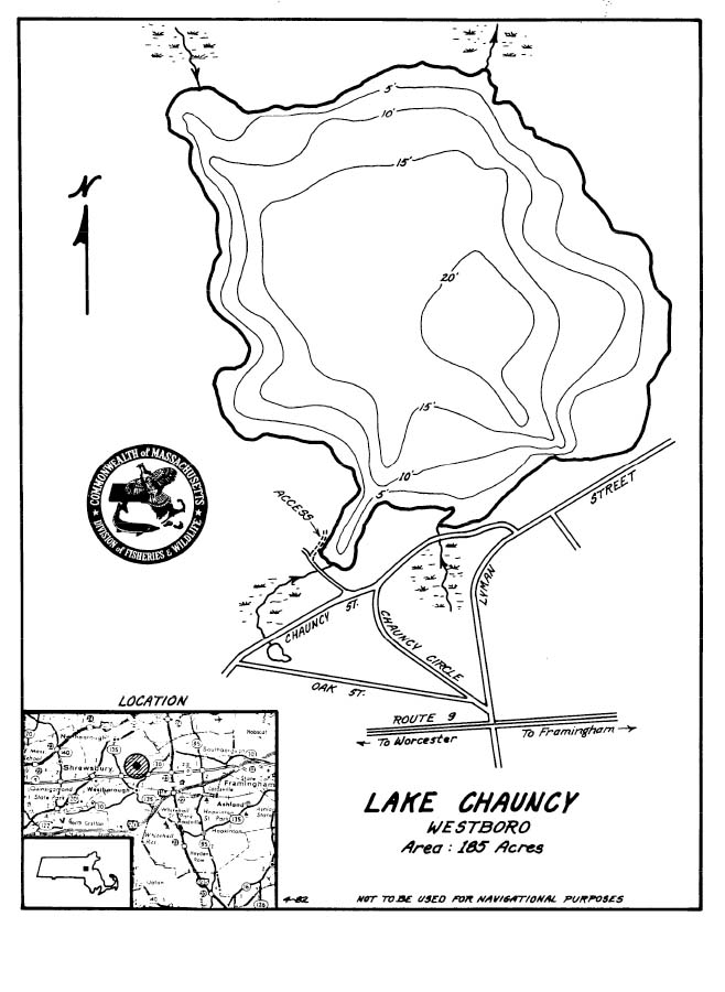 Lake Chauncy Map