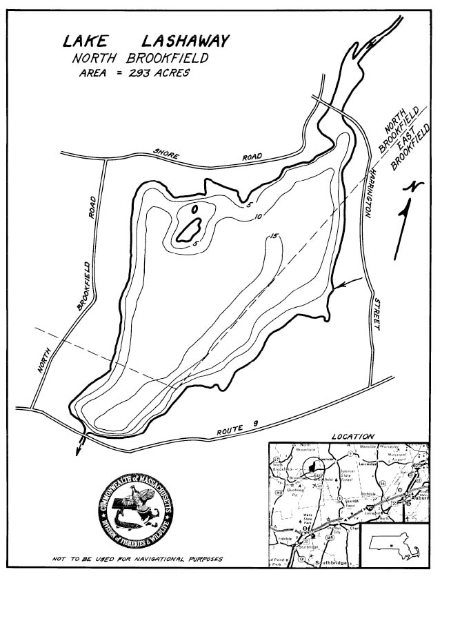 Lake Lashaway Map