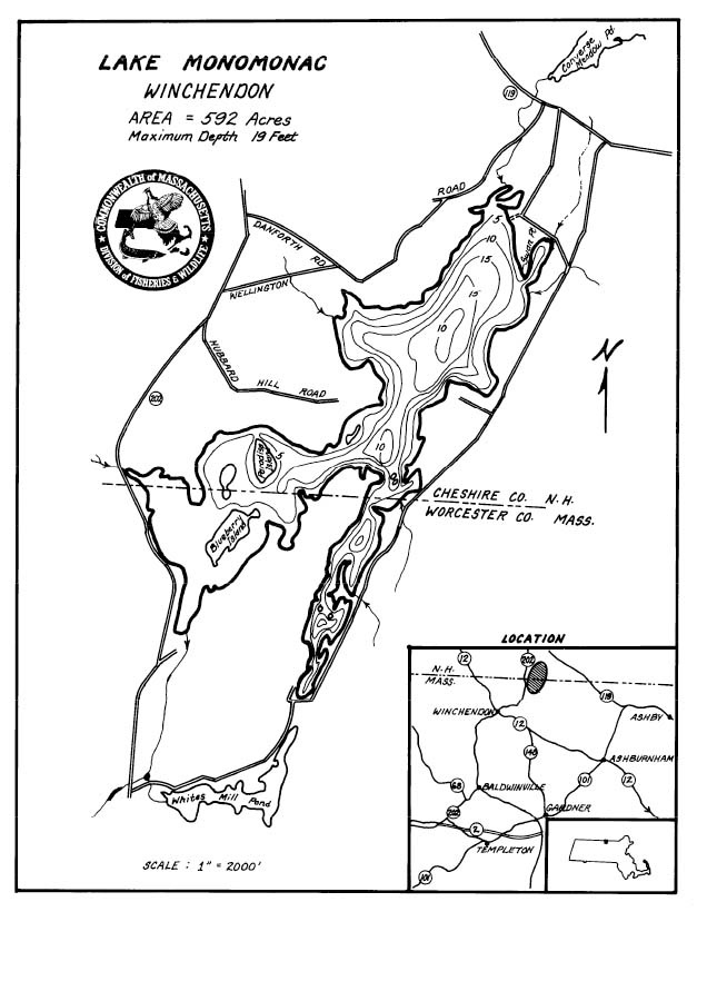 Lake Monomonac Map