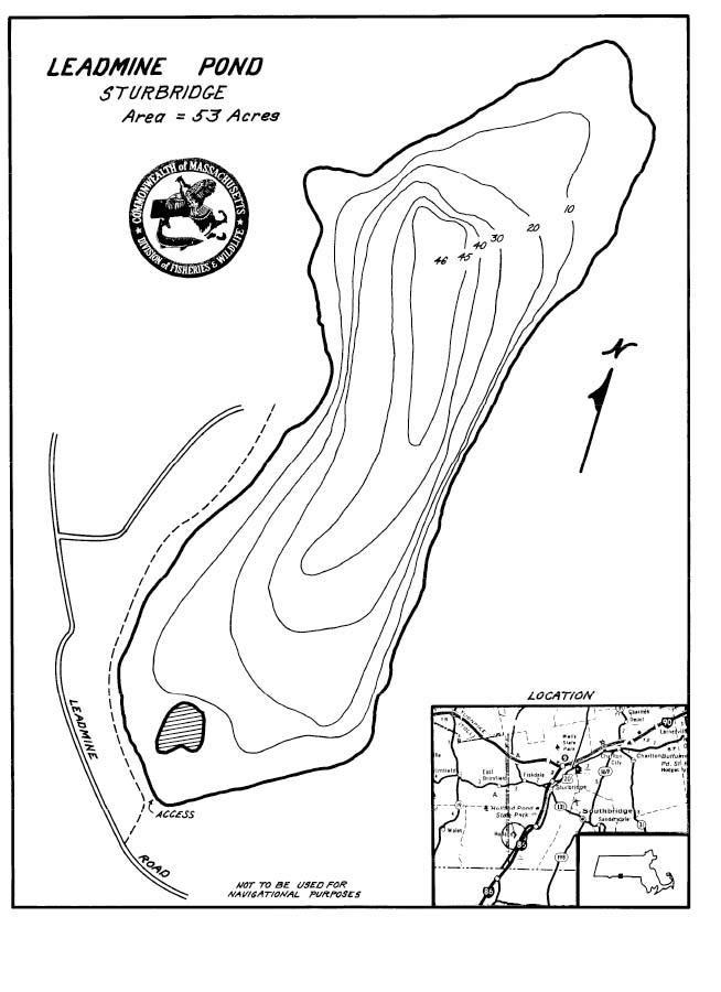 Leadmine Pond Map