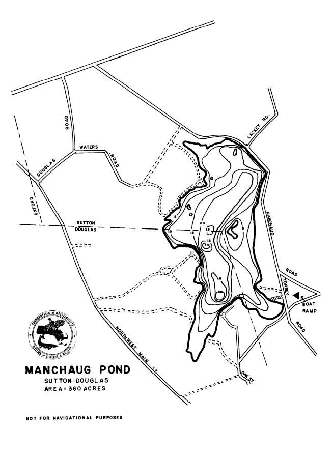 Manchaug Pond Map