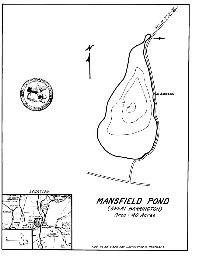 Mansfield Pond Map