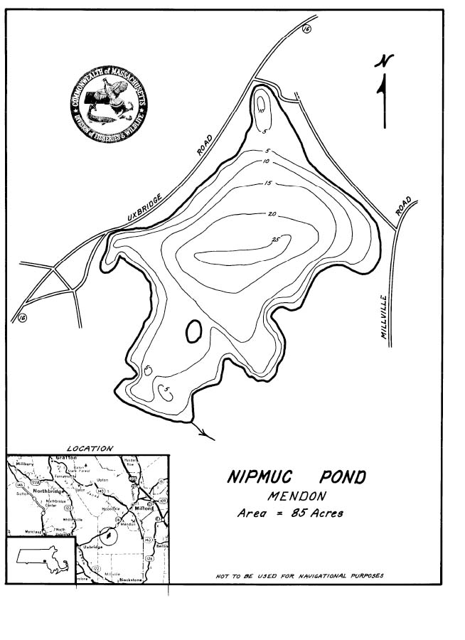 Nipmuc Pond Map