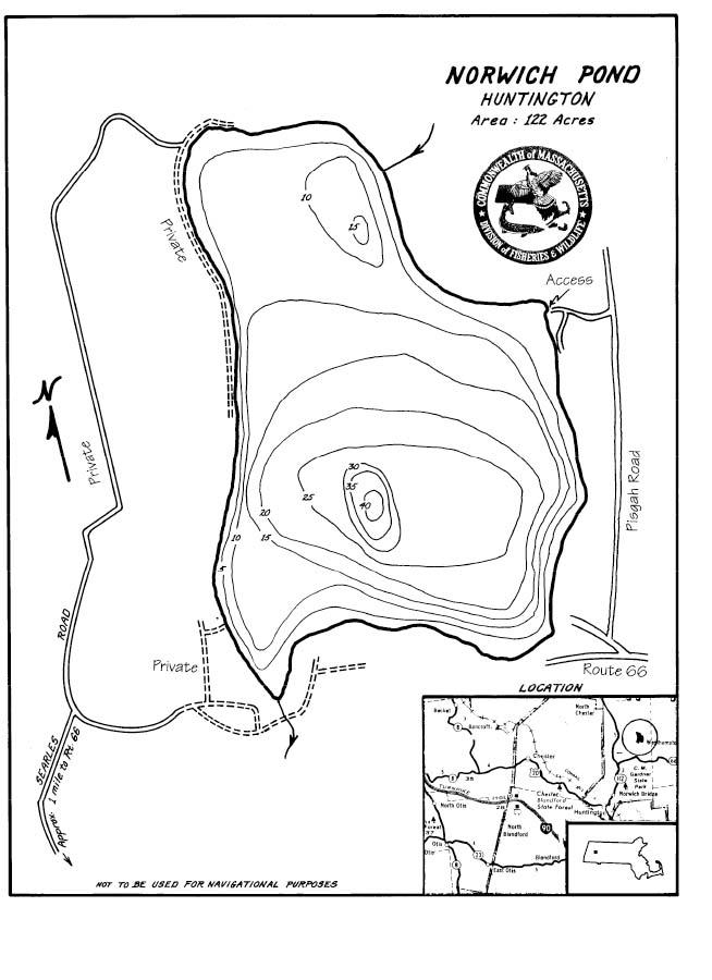 Norwich Pond Map
