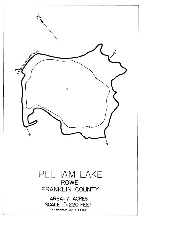 Pelham Lake Map