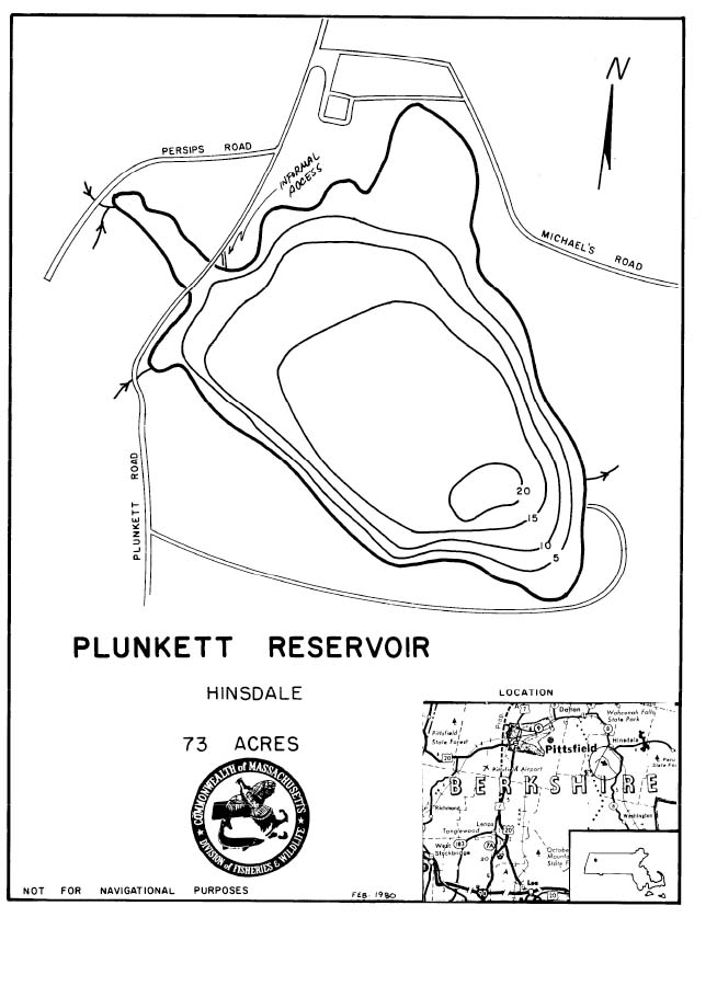 Plunkett Reservoir Map
