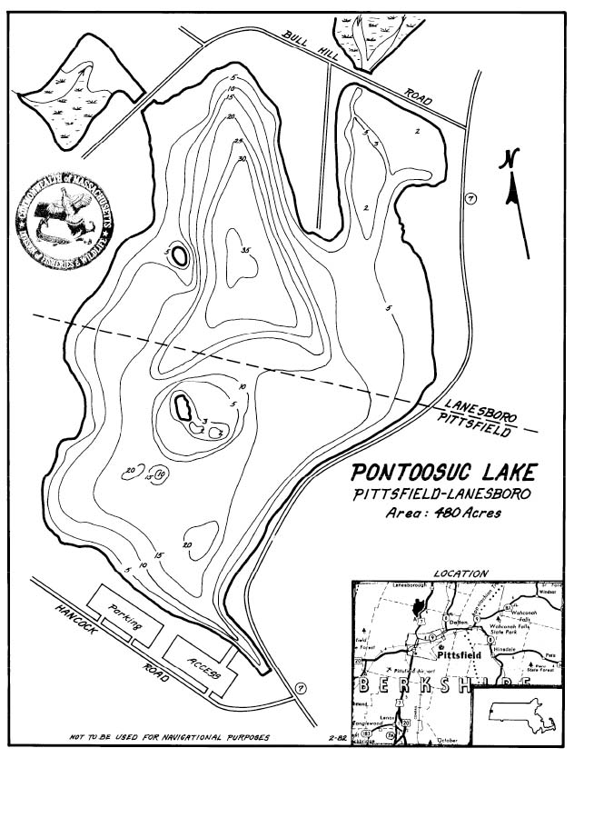 Pontoosuc Lake Map