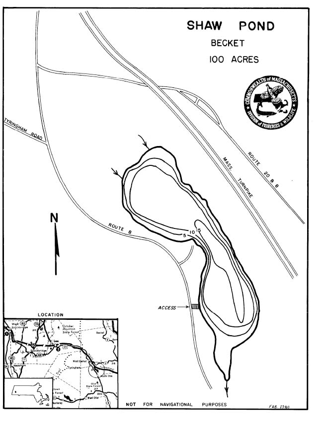 Shaw Pond Map