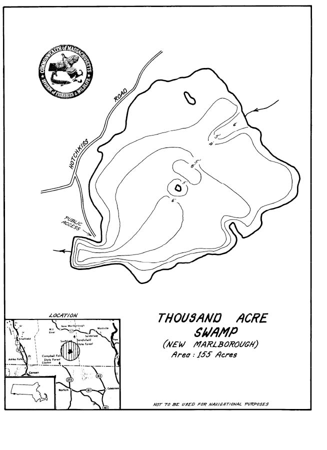 Thousand Acre Swamp Map