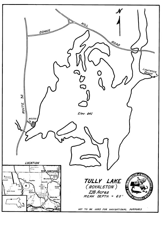 Tully Lake Map
