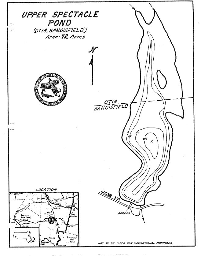 Upper Spectacle Pond Map