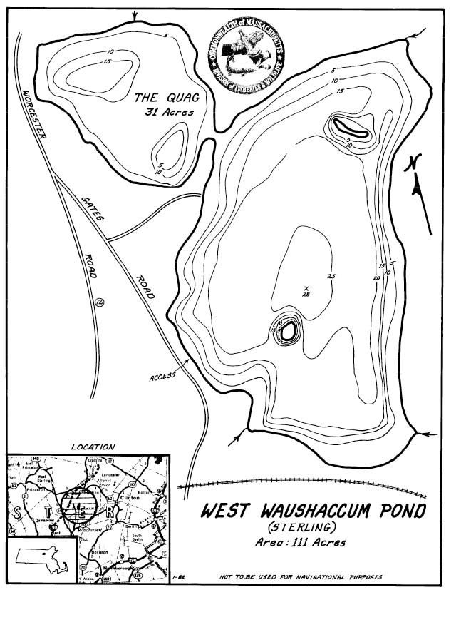 West Waushaccum Pond Map