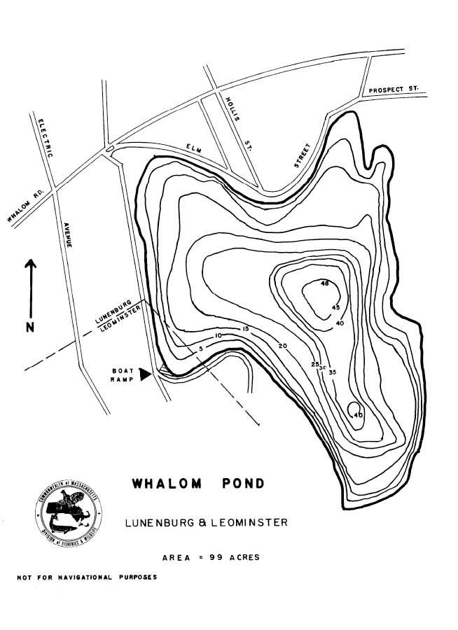 Whalom Pond Map