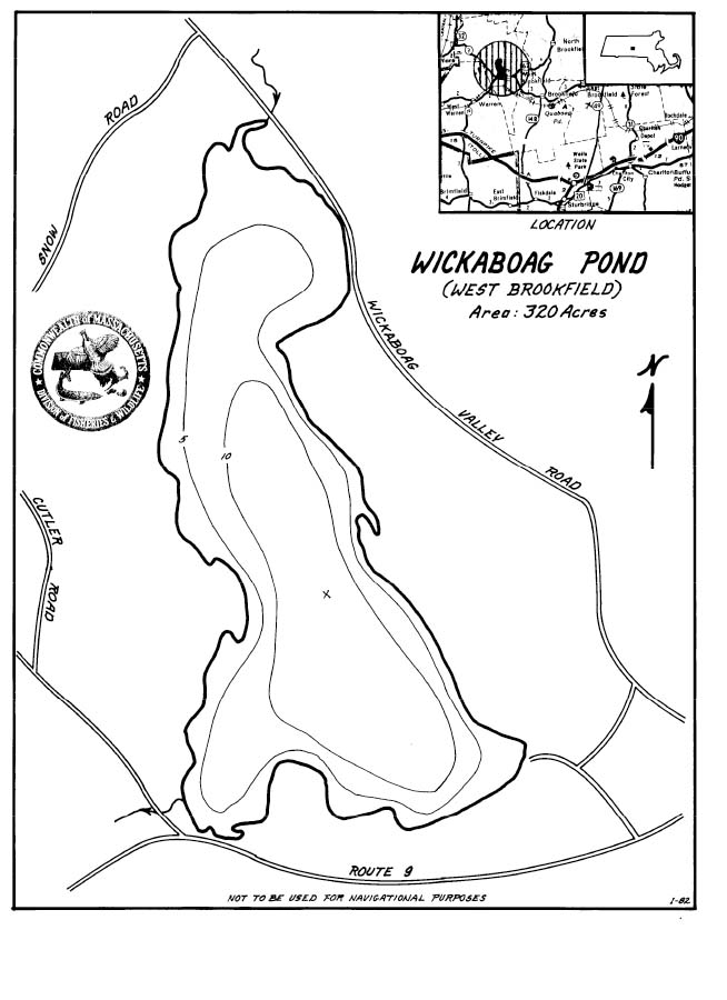 Wickaboag Pond Map