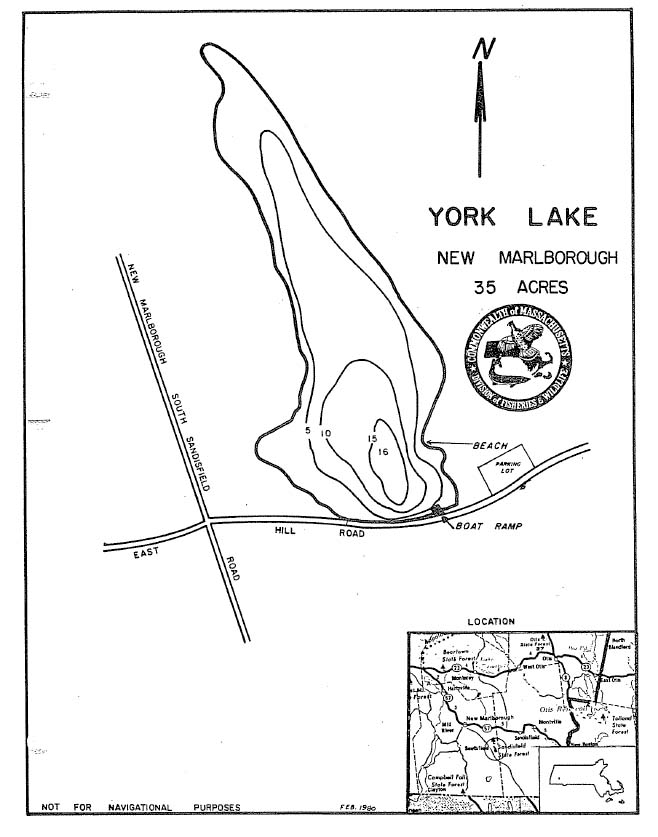 York Lake Map