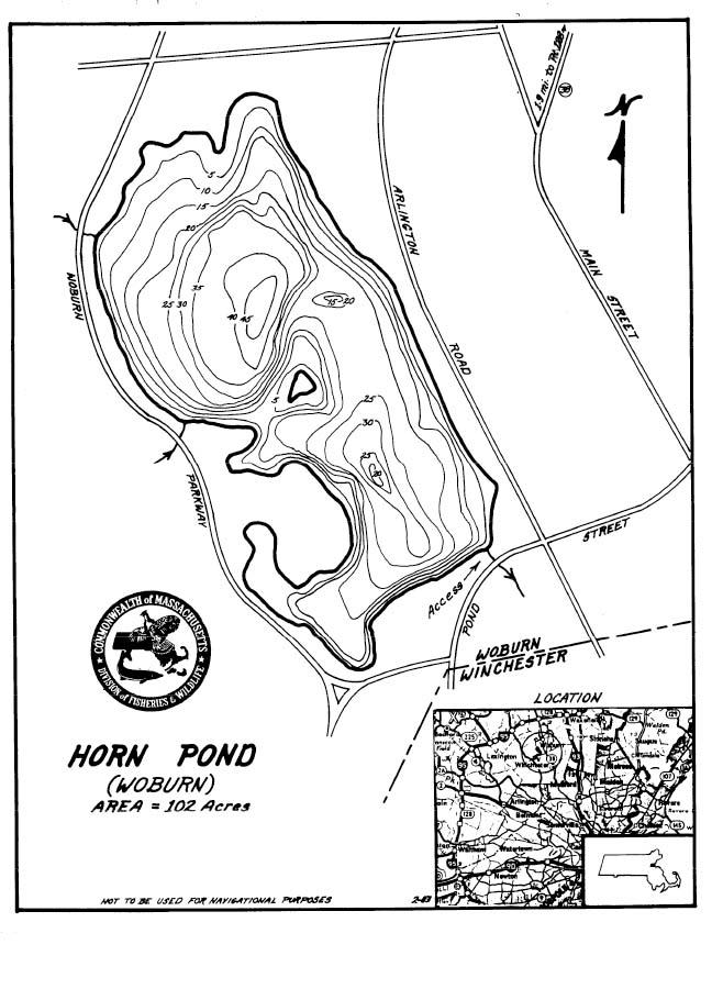 Horn Pond Map