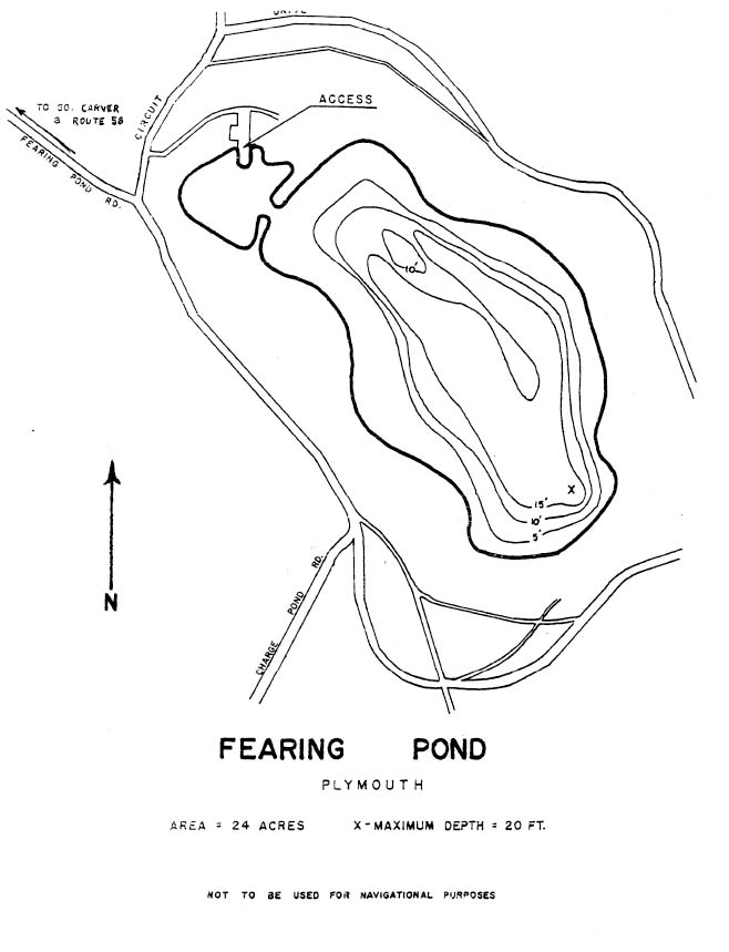 Fearing Pond Map Plymouth Ma