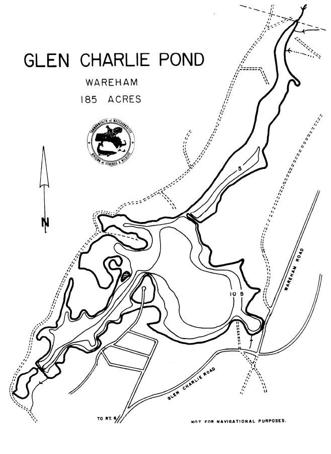 Glen Charlie Pond Map Wareham Ma