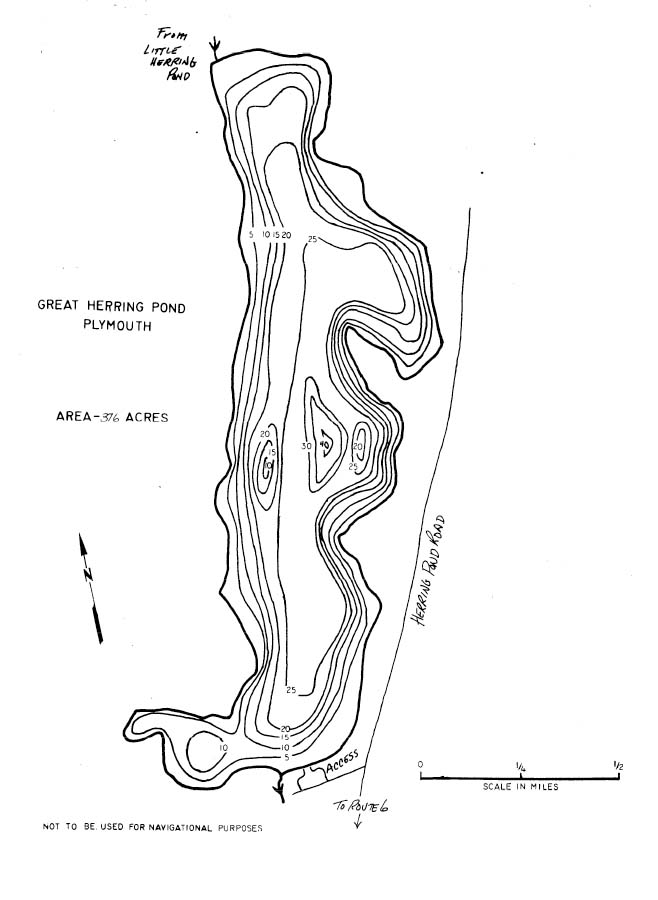 Great Herring Pond Map Plymouth Ma