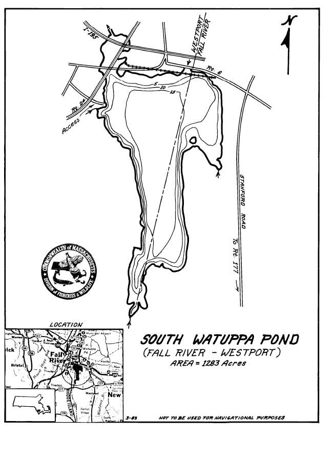 South Watuppa Pond Map Fall River Westport Ma
