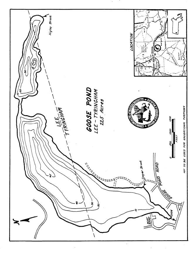 Goose Pond Map Lee Tyringham Ma