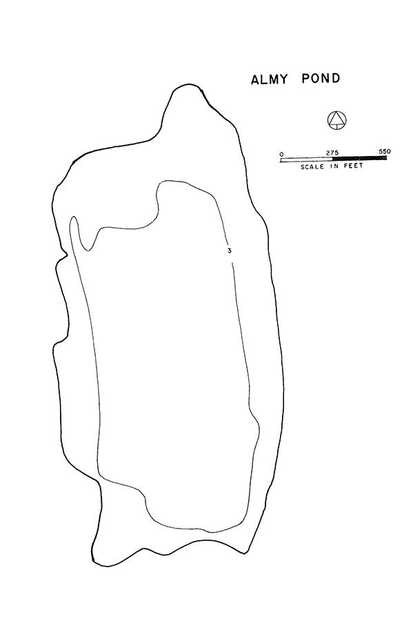 Almy Pond Lake Map