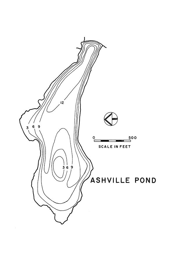Ashville Pond Lake Map