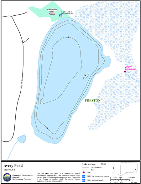 Avery Pond Map