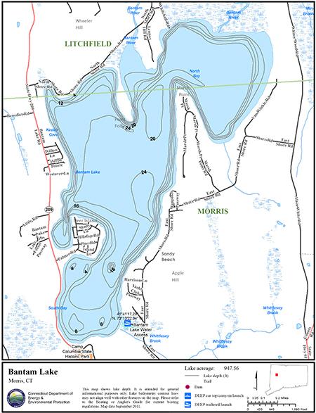 Bantam Lake Map