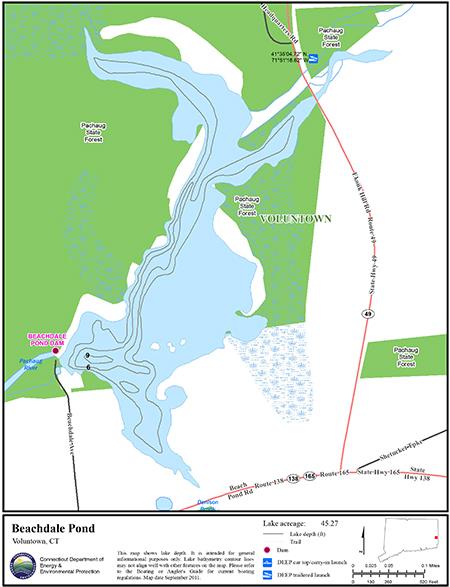 Beachdale Pond Map