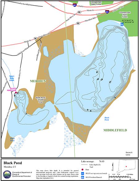 Black Pond Meriden Map