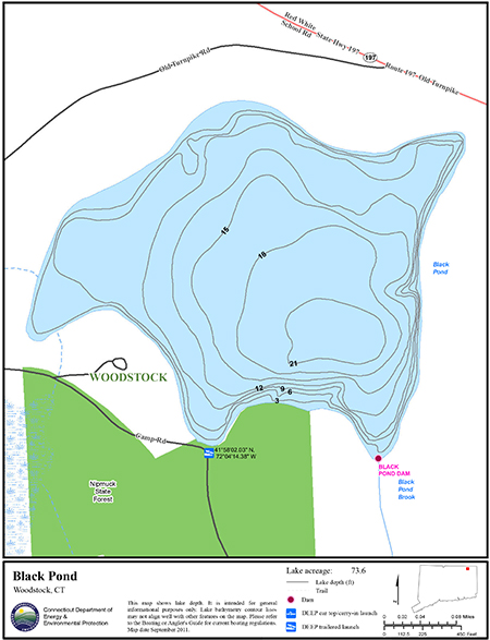 Black Pond Woodstock Map