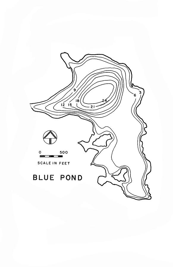 Blue Pond Lake Map