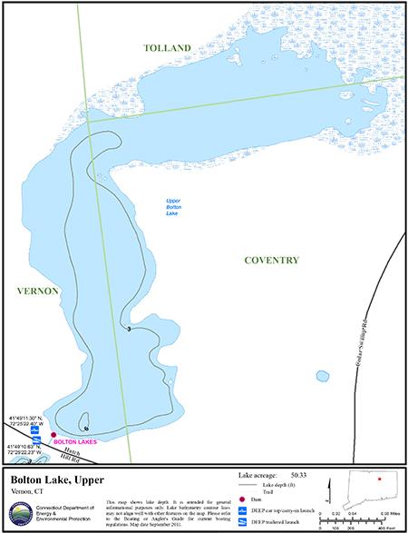 Bolton Lake, Upper Map