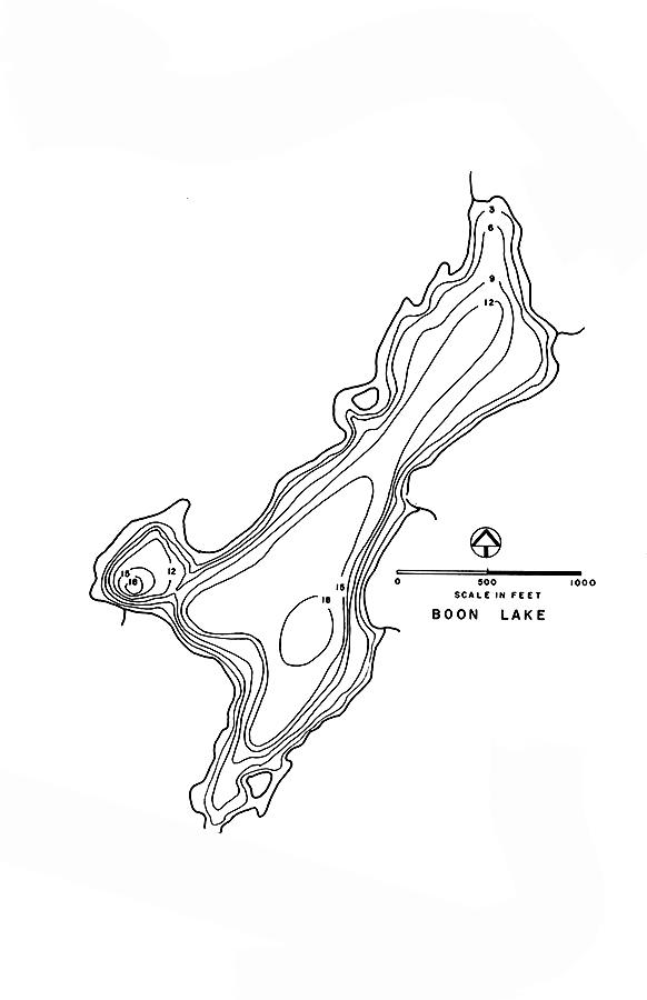 Boon Lake Map