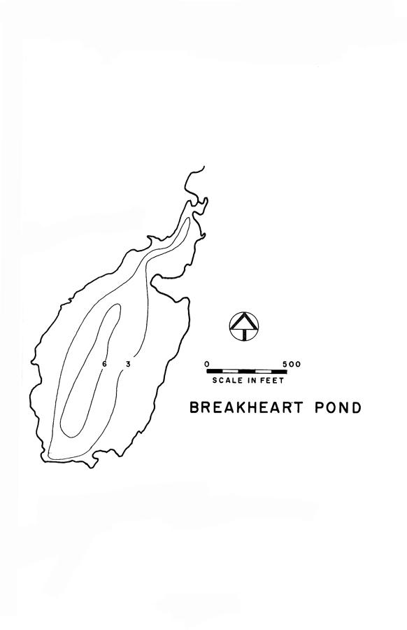 Breakheart Pond Lake Map