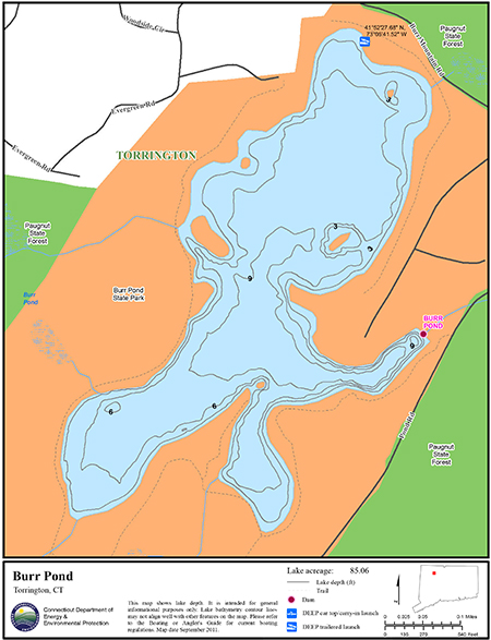 Burr Pond Map
