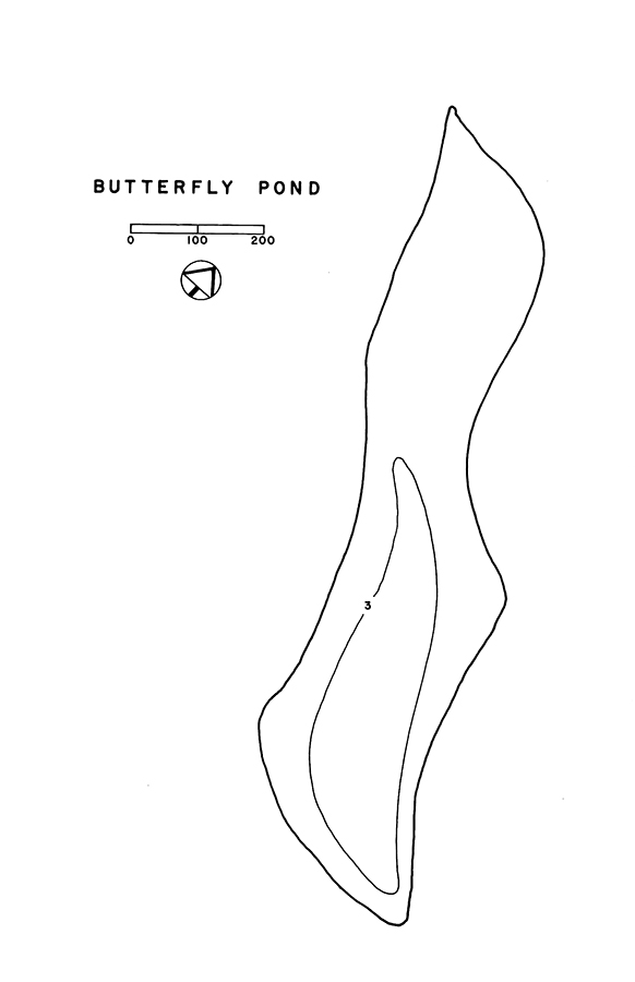 Butterfly Pond Lake Map