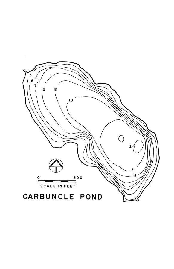 Carbuncle Pond Lake Map