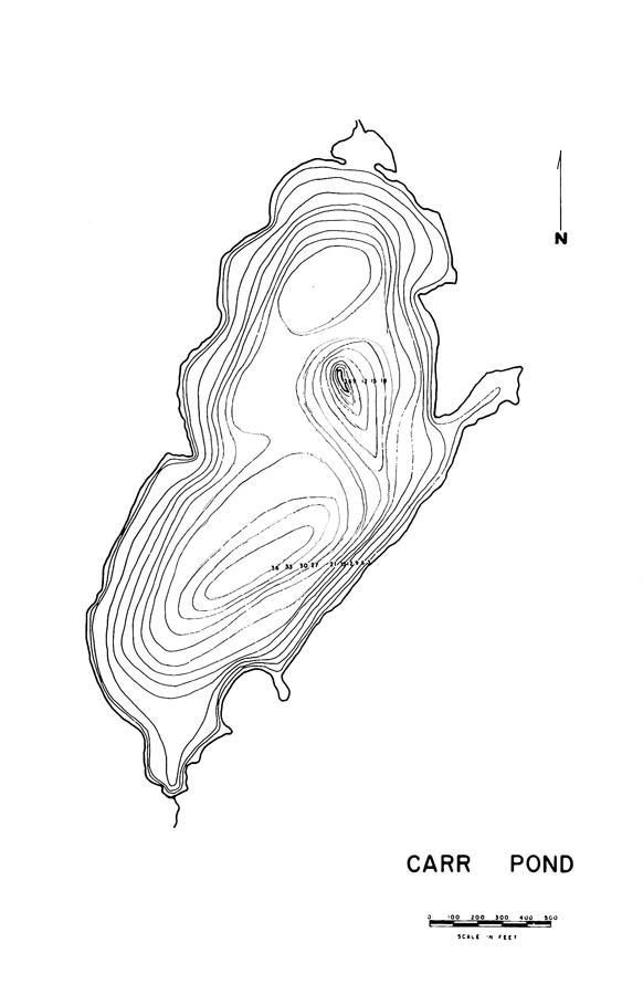 Carr Pond Lake Map